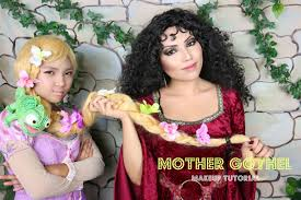 witch costume hairstyles tangled mother gothel makeup tutorial youtube
