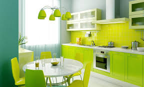 cuisine jaune et verte une cuisine en vert fluo on ose vert fluo cuisine verte et fluo