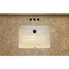 37x22 sd golden garnet granite vanity top with square bowl