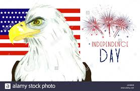 Eagle American Flag Independence Day Background With Bald Eagle American Flag And