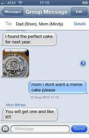 Message Meme - 1715 at t messages group message edit to dad shon mom mindy details