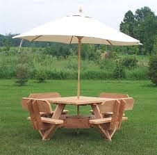 Patio Table With Umbrella Hole Nice Picnic Table With Umbrella Hole 56 Western Red Cedar Picnic