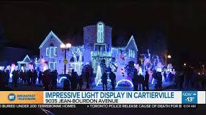 christmas light show toronto almost 100 000 lights in montreal homeowners light display