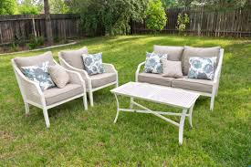 Aluminum Patio Furniture Set - white aluminum outdoor furniture techethe com