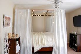 Decorating With String Lights 10 Diy Canopy Beds Bedroom And Canopy Decorating Ideas