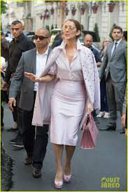 celine dion looks pretty in pink while out in paris photo 3917424
