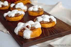 sweet potato casserole bites shaken together