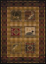 Rustic Lodge Rugs Lake Plaid Rustic Lodge Rug Collection The Cabin Shack