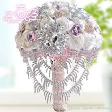 artificial wedding bouquets luxury artificial wedding bouquets 2017 bling bling crystals satin