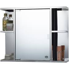 new bathroom cabinet stainless steel single door mirrored storage