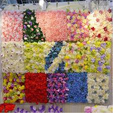 quilt wedding backdrop artificial flower for wall decoration and wedding stage backdrop