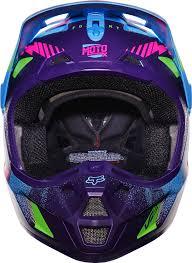 purple motocross helmet fox racing blue green purple pink v2 vicious se dirt bike