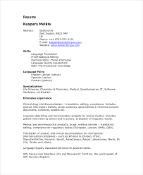 Language Spoken In Resume Proofreader Resume Template 6 Free Word Pdf Documents Download