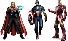 captain america s costume iron man s armor thor s hammer up for