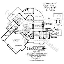 etowah river lodge house plan house plans by garrell associates