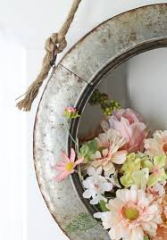 the craft patch farmhouse style diy spring tire wreath tutorial