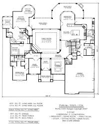 single story house plans with garage in back
