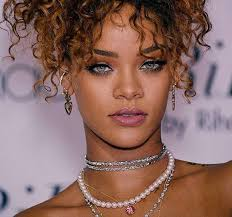 rihanna earrings earrings green hair makeup image 3509403 by