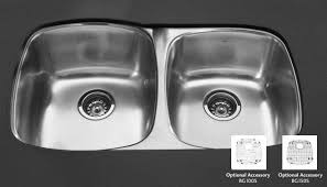 stainless steel double bowl undermount sink kindred nd1931u 9 reginox double bowl undermount kitchen sink no