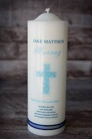 christening candles candles baptism personalised gifts online spotty