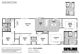 Triple Wide Modular Homes Floor Plans 6 Bedroom 3 Bath Mobile Home Triple Wide Homes Modular Log Cabins