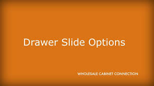 kitchen cabinet drawer slide options youtube