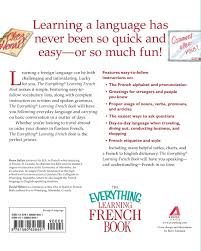 everything learning french everything language u0026 writing