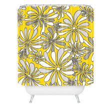 Yellow Flower Shower Curtain Interior Grey And Yellow Floral Pattern Curtains For Stainless