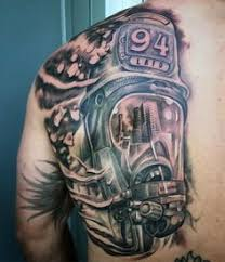 fireman tattoo by joaquin hernandez dallas texas tattoo art by