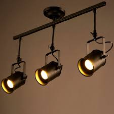 Ceiling Track Light Shop Retro Loft Vintage Led Track Light Industrial Ceiling