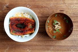 cuisine doyon eel bowl doyon ushinohi godparent is gennai hiraga stock photo