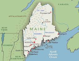 map of maine maine map travel guide