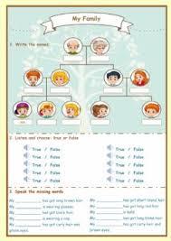 english exercises family tree