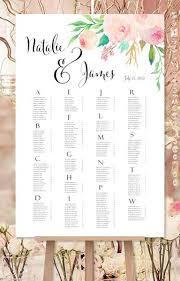 Wedding Seating Chart Template Wedding Seating Chart Poster Reception Table Plan Wedding