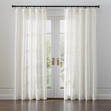 Ivory Linen Curtains Briza Sheer Linen Curtains Crate And Barrel