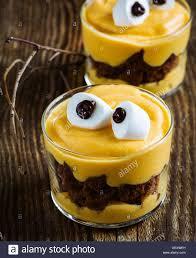 halloween treats little monster dessert with chocolate cookies