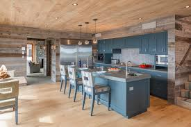 kitchen paneling ideas blooming wood paneling walls interesting ideas with blue kitchen