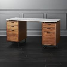 Modern Desk With Drawers Modern Desks With Drawers Cb2