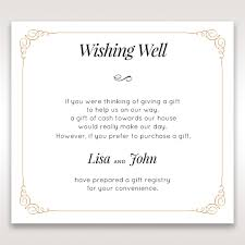 wedding wishes gift registry wishing well wording for wedding invitations