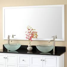 framing bathroom mirror ideas white framed bathroom vanity mirrors image of decorative framed