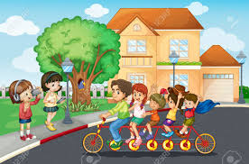 Family Safety Illustration Of A Family Riding A Bicycle Royalty Free Cliparts