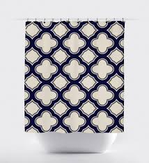 navy shower curtain etsy inside blue and tan curtains targovci com