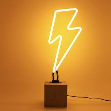 lightning bolt neon light maiden