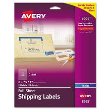 avery 08665 clear easy peel mailing labels inkjet 8 1 2 x 11