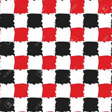 Red White Black Flag Check Black Red And White Seamless Pattern Checkers Board