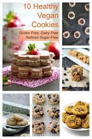 healthy vegan cookies gluten free dairy free sugar free