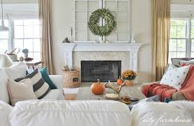 rustic chic fall tour city farmhouse rustic fall family room