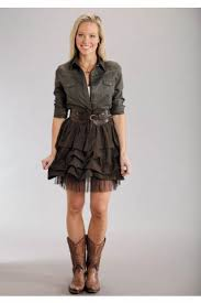women u0027s dresses and skirts brown poly lawn short skirt stetson