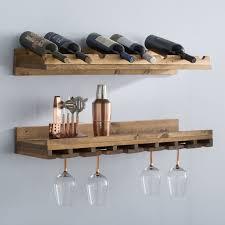 berlyn 2 piece 8 bottle wall mounted wine rack set u0026 reviews