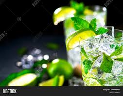green cocktail black background mojito cocktail bur on table summer image u0026 photo bigstock